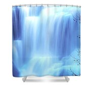 Ithaca Water Falls New York  Shower Curtain