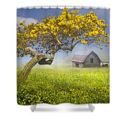It's A Beautiful Day Shower Curtain by Debra and Dave Vanderlaan