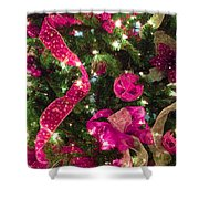 It's A Pink Christmas Shower Curtain