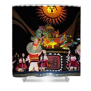 It's A Small World With Dancing Mexican Character Shower Curtain
