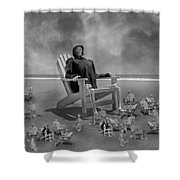 It's All In Black And White Shower Curtain