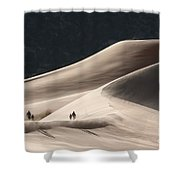 It's All Uphill Shower Curtain