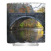 It's Autumn At The Valley Green Bridge Shower Curtain