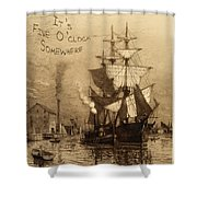 It's Five O'clock Somewhere Schooner Shower Curtain by John Stephens