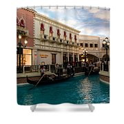 It's Not Venice - Gondoliers On The Grand Canal Shower Curtain