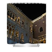It's Not Venice - The Famous Venetian Las Vegas At Night Shower Curtain