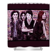 It's Only A Northern Song Bordered Shower Curtain