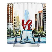 It's Only Love Shower Curtain