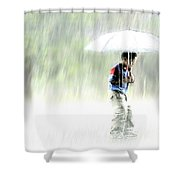 It's Raining Outside Shower Curtain by Heiko Koehrer-Wagner