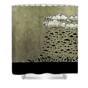 It's Raining Umbrellas Shower Curtain by Gianfranco Weiss