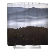 It's The Smokies Folks Shower Curtain by Skip Willits