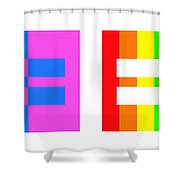 It's Time - Equal Rights For All By Sharon Cummings Shower Curtain