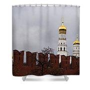Ivan The Great Belfry Of Moscow Kremlin Shower Curtain