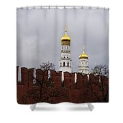 Ivan The Great Belfry Of Moscow Kremlin - Square Shower Curtain