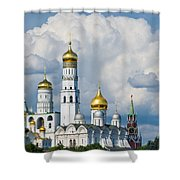 Ivan The Great Bell Tower Of Moscow Kremlin - Featured 3 Shower Curtain