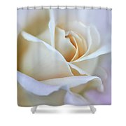 Ivory And Pink Abstract Rose Flower Shower Curtain