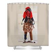 Ivory Coast Native Katchina Doll Shower Curtain