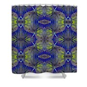 Ivy Abstract 1 Green Blue Shower Curtain