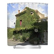 Ivy Covered Cottage Shower Curtain