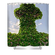 Ivy Covered Cross Shower Curtain
