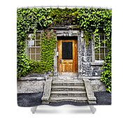 Ivy Covered Doorway - Trinity College Dublin Ireland Shower Curtain