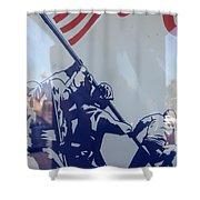 Iwo Jima Flag Raising Design Arizona City Arizona 2004 Shower Curtain