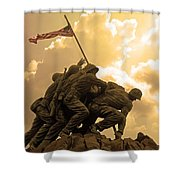 Iwo Jima Memorialized Shower Curtain