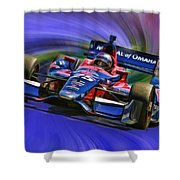 Izod Indycar Series Marco Andretti  Shower Curtain