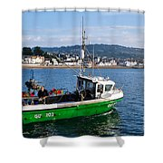 J B P Leaving The Harbour Shower Curtain