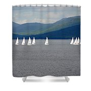 J Boats Lake George N Y Shower Curtain