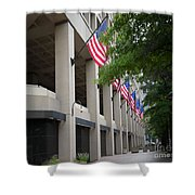J Edgar Hioover Fbi Building Shower Curtain