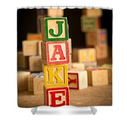Jake - Alphabet Blocks Shower Curtain