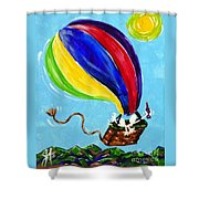 Jack And Charlie Fly Away Shower Curtain