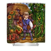 Jack And The Beanstalk By Carol Lawson Shower Curtain