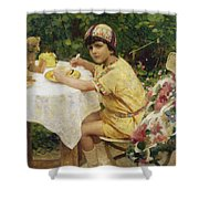 Jack In The Garden Shower Curtain by Giacomo Grosso