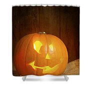 Jack O Lantern Shower Curtain