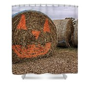 Jack-o-lantern Hayroll Shower Curtain by Jason Politte