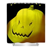 Jack-o-lantern Shower Curtain