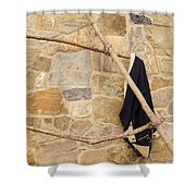 Jacket Hanging Shower Curtain