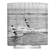 Jackie & John Glenn Water Ski Shower Curtain