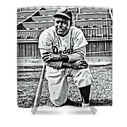 Jackie Robinson Painting Shower Curtain