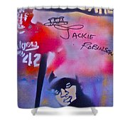 Jackie Robinson Red Shower Curtain
