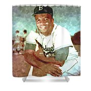 Jackie Robinson Shower Curtain