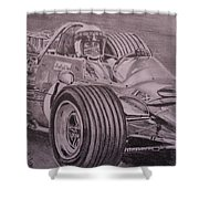 Jackie Stewart  Shower Curtain