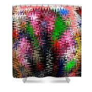 Jacks And Marbles Abstract Shower Curtain