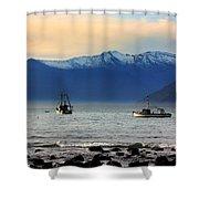 Jackson Bay South Westland New Zealand Shower Curtain