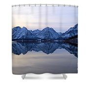 Jackson Lake Reflections Shower Curtain