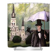 Jackson Square Shower Curtain by Rob Peters