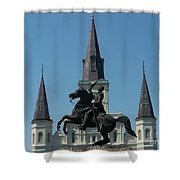 Jackson Square Salute Shower Curtain by Kevin Croitz