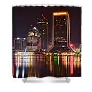 Jacksonville Aglow Shower Curtain